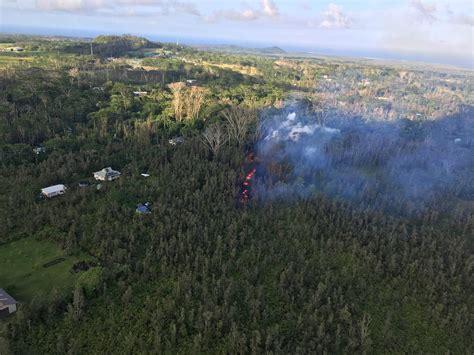 El volcán Kilauea hace erupción en la isla grande de Hawái