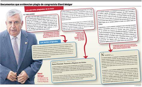 Elard Melgar, el congresista de Fuerza Popular que plagió ...