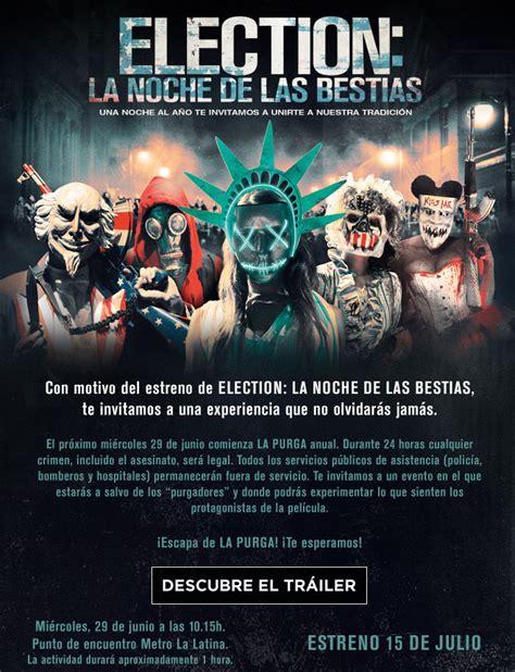 Election: La noche de las bestias   La purga llega a ...