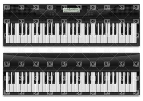 Electronic piano keys - synthesizer Vector Image – Vector ...