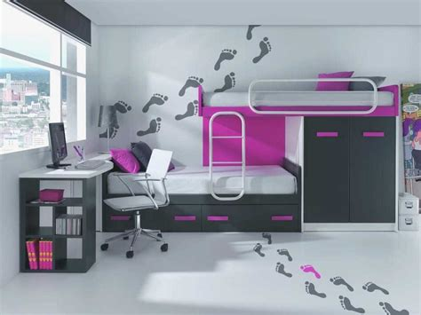 Elegante Dormitorios Juveniles Modernos Espacios Pequeños ...