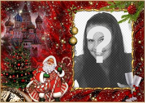 Elegante fotomontaje de Navidad y Santa Claus para añadir ...