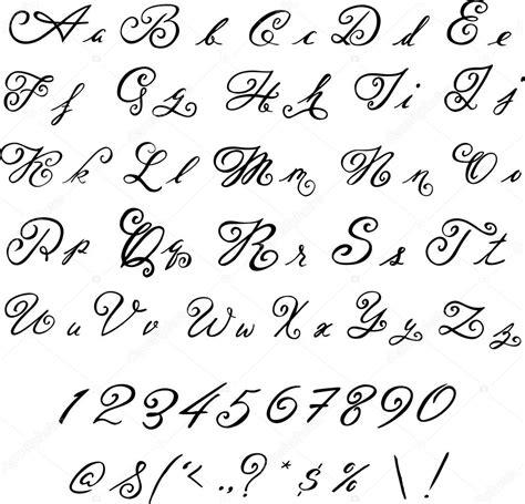 Elegante fuente negro. Letras vintage — Archivo Imágenes ...