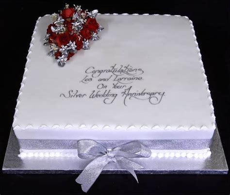 elegante pastel para celebración de 25 años aniversario ...