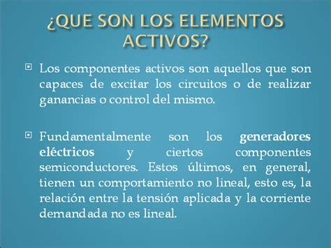 Elementos activos - Monografias.com