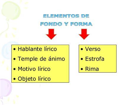 Elementos de fondo y forma