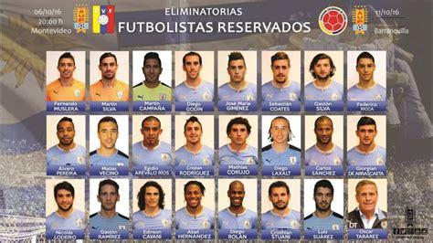 Eliminatorias: La lista de convocados de Uruguay para los ...