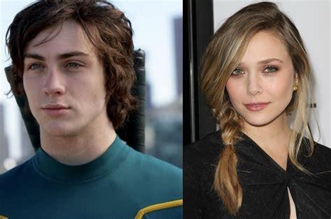 Elizabeth Olsen and Aaron Taylor Johnson for Avengers: Age ...