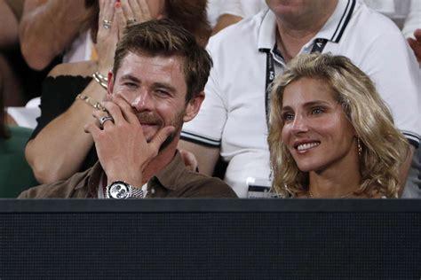 Elsa Pataky and Chris Hemsworth   2018 Australian Open ...
