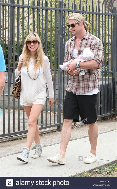 Elsa Pataky, husband Chris Hemsworth and their daughter ...