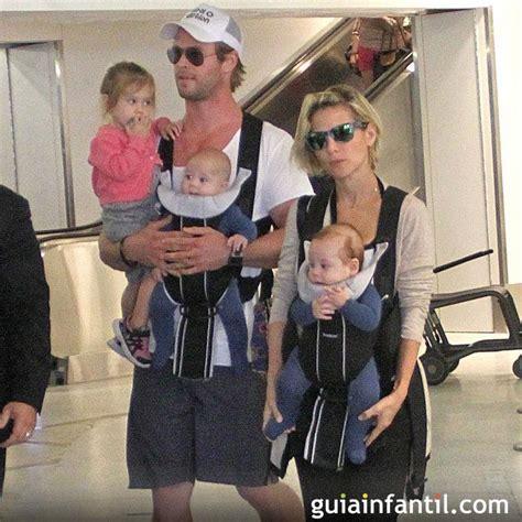 Elsa Pataky y su marido, Chris Hemsworth, en el aeropuerto ...