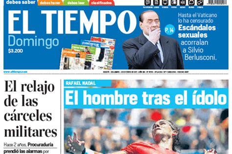 Eltiempo. Fabulous El Tiempo Televisin Cuatro Aos ...