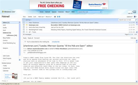 Email Design: Hotmail Adds Preview Pane Feature   Email ...