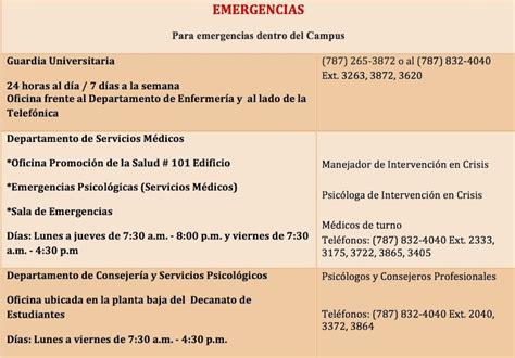 EMERGENCIAS   Departamento de Consejería y Servicios ...