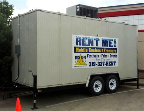 Emergency + Event Mobile Freezer Trailer Rental: IA, IL, MO