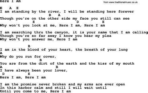 Emmylou Harris song: Here I Am, lyrics and chords