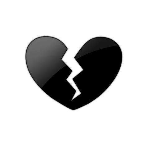 Emoji Black Heart Broken Png