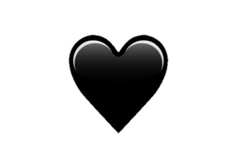 Emoji Black Heart Png