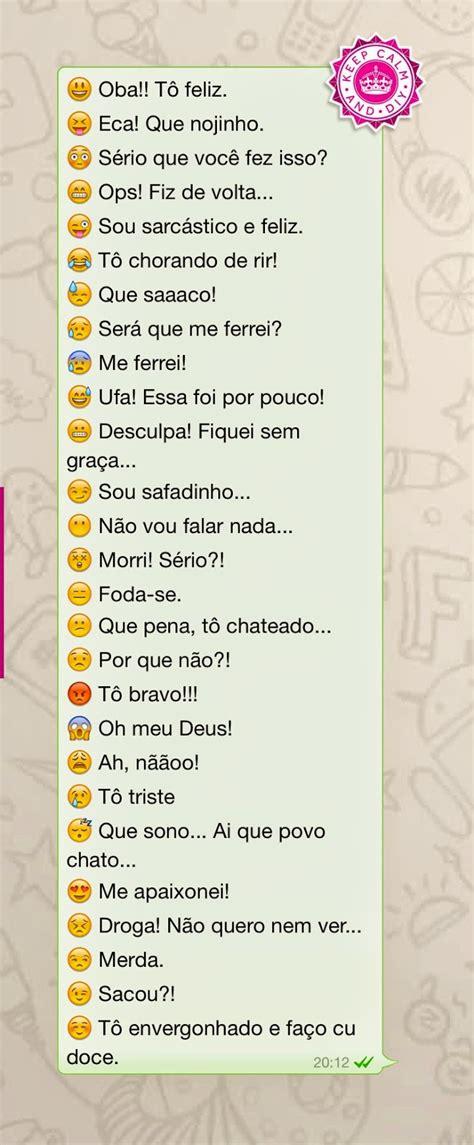 Emojis do WhatsApp e seus verdadeiros significados ...