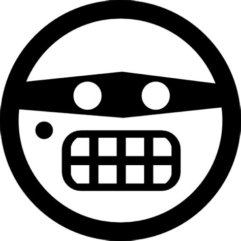 Emoticon criminal face with eyes mask Icons | Free Download