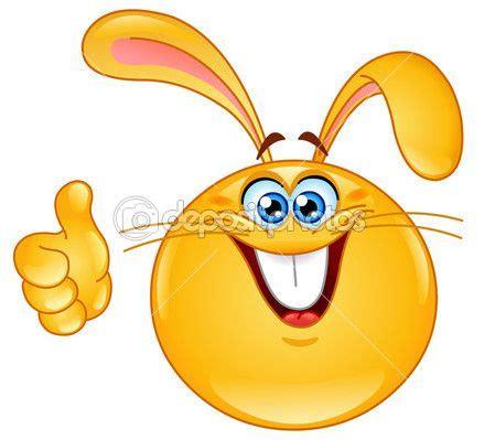 emoticon de conejo con el pulgar para arriba | Caritas ...