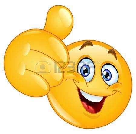 Emoticon mostrando el pulgar hacia arriba photo | Buenos ...