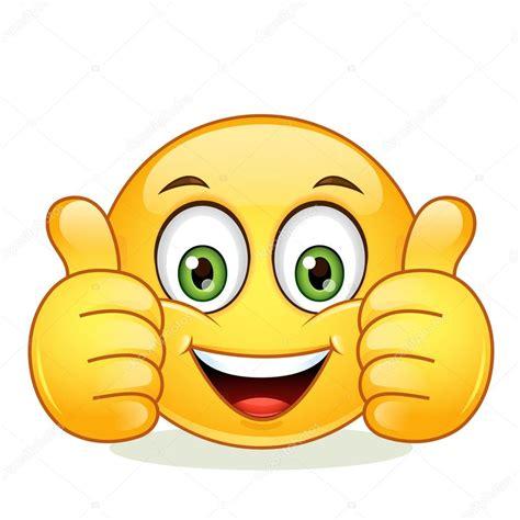 emoticon mostrando pollice — Vettoriali Stock © angle ...