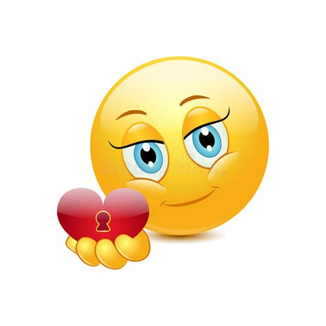 Émoticône donnant le coeur illustration de vecteur ...