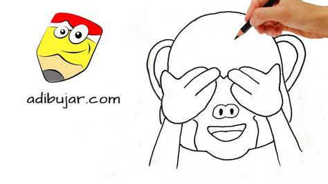 Emoticones Whatsapp: Cómo dibujar el emoji mono a lápiz ...