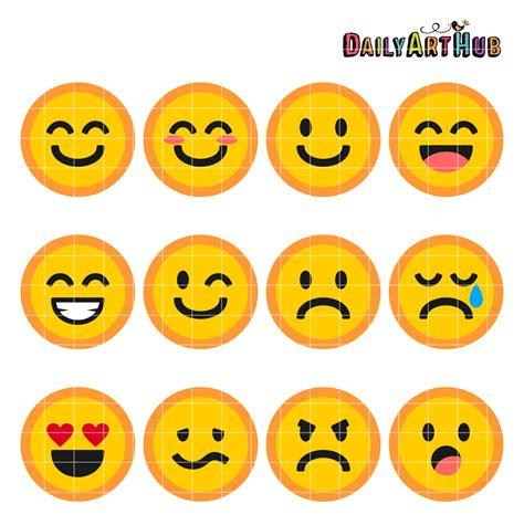 Emoticons Collage Clip Art Set | Daily Art Hub