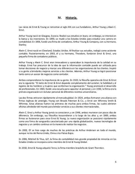 "Empresa Auditora ""Ernst & Young"""