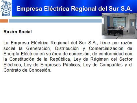 Empresa Eléctrica Regional del Sur S.A. Plan Estratégico ...