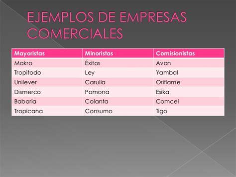 Empresas comerciales