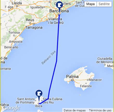 En ferry de Barcelona a Ibiza
