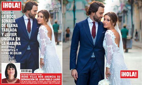 En ¡HOLA!, la boda soñada de Elena Tablada y Javier Ungría ...