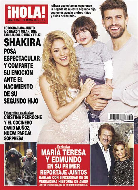 En ¡HOLA!, la foto solidaria de Shakira, embarazada de su ...