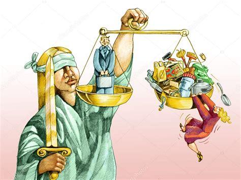 En la balanza de la justicia para los hombres y las ...