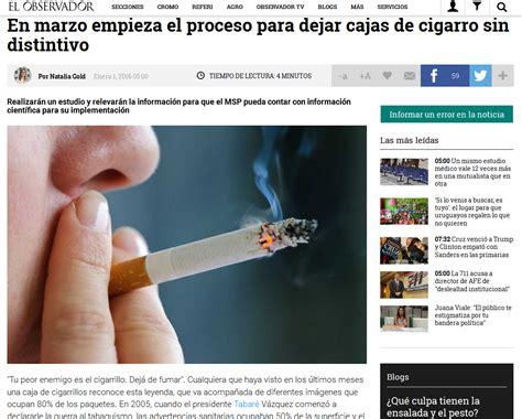En marzo empieza el proceso para dejar cajas de cigarro ...