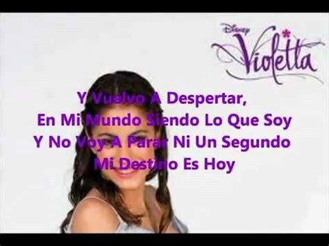 En Mi Mundo Violetta Letra Martina Stoessel YouTube   YouTube