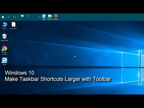 Enable Quick Launch Toolbar in Windows 10 | Doovi
