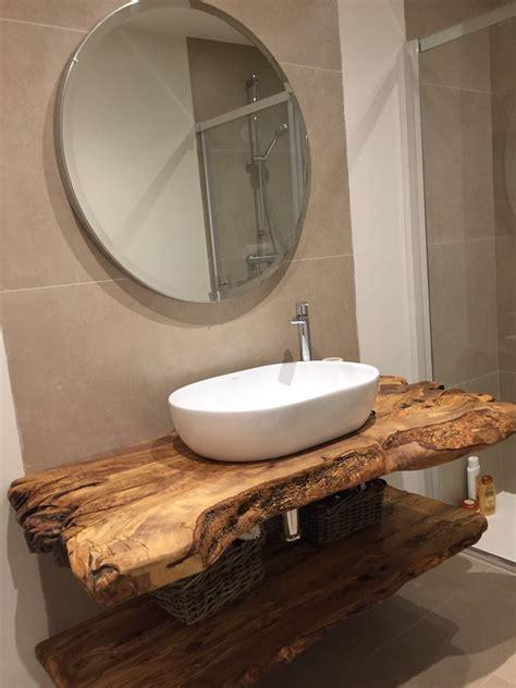 encimera de baño de madera de olivo | Baño | Pinterest ...