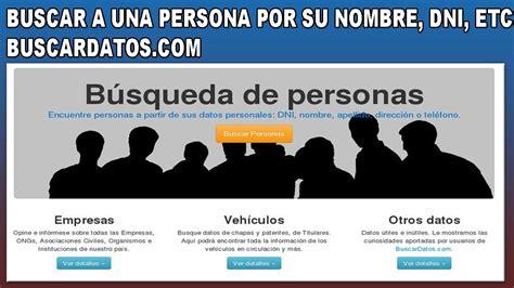 Encontrar a personas a partir de sus datos personales DNI ...