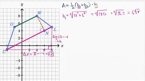 Encontrar el área de un trapezoide en un plano coordenado ...