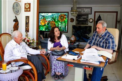 Encuentro de Fidel y Carter en La Habana. Foto: Alex ...