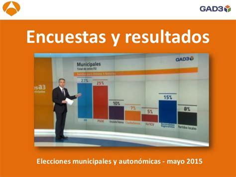 Encuestas y resultados - elecciones autonómicas y ...