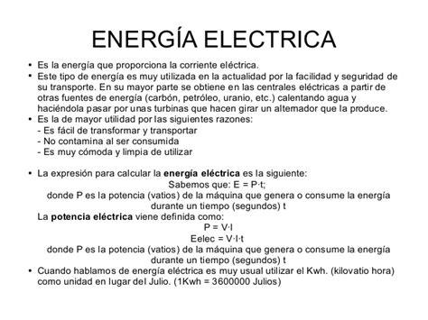 Energía conceptos generales