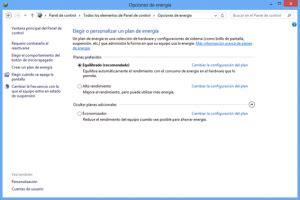 Energía en Windows 8: Rendimiento o Ahorro