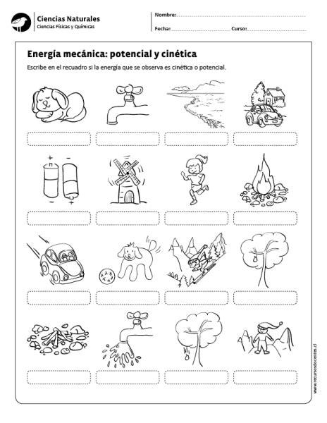 Energía mecánica: potencial y cinética   quimica ...