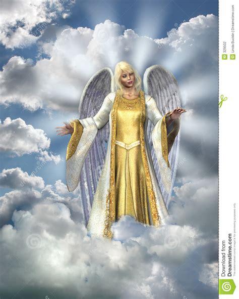 Engel van Licht in Hemel stock illustratie. Afbeelding ...