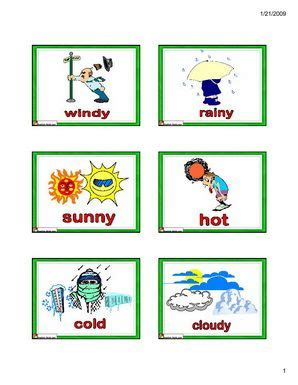 English for Kids,ESL Flashcards weather vocabulary  cold ...